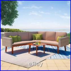 VidaXL Garden Sofa Set 13 Piece Poly Rattan Gray Outdoor Patio Furniture Seat