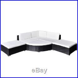 VidaXL Outdoor Lounge Set 16 Piece Wicker Poly Rattan Black Garden Patio Sofa