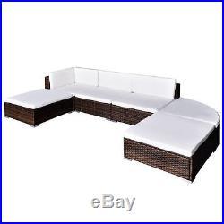 VidaXL Outdoor Lounge Set 16 Piece Wicker Poly Rattan Brown Garden Patio Sofa