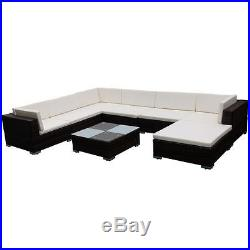 VidaXL Outdoor Lounge Set 24 Piece Wicker Poly Rattan Brown Garden Patio Sofa