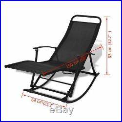 VidaXL Patio Reclining Sun Lounger Folding Garden Rocking Chair Outdoor Porch