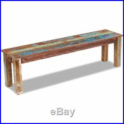 VidaXL Solid Reclaimed Wood Bench Dining Seats Home Seat Furniture Entrance Hall