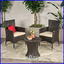 West Outdoors Brown Wicker 3 Piece Chat Set