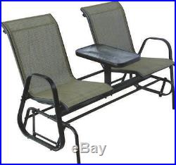 Westfield S95-S1384K Double Glider With Console, HardWood, Steel Frame, Natural