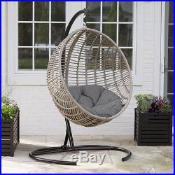 Wicker Chair Rattan Patio Furniture Hanging Egg Bubble Swing Seat Hammock Pool
