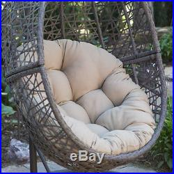 Wicker Hanging Chair Egg Outdoor Patio Swinging Lounge Swing Basket Hammock Deck