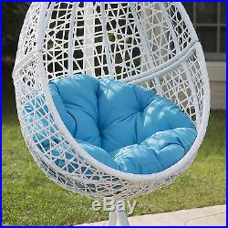 Wicker Hanging Egg Chair Swing Patio Resin Seat Deck Porch Furniture Outdoor
