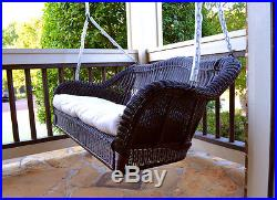 Wicker Porch Swing With Cushion