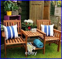 Wooden Companion Set Hardwood Garden Bench Table Corner Love Seat Jack & Jill