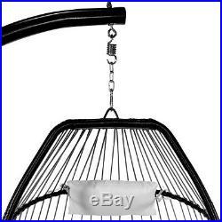 X-Large Outdoor Hanging Egg Cushion Chair Swing Chair Patio Soft Cushion Cream