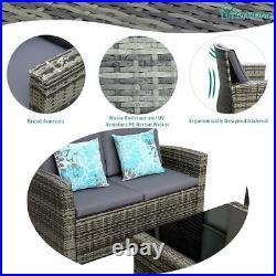YITAHOME 4x Patio Sofa Cushion Couch Outdoor Rattan Wicker Sectional Set Garden